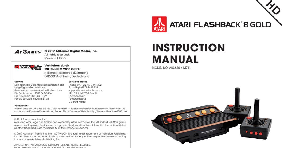 Atgames Atari Flashback 8 Goldpdf Google Drive