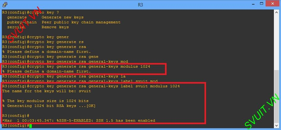configure SSH cisco generate key (1)