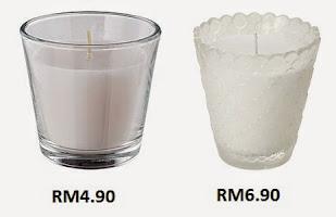 ikea candles RM4.90