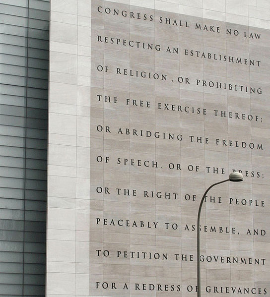 File:Newseum 5 Freedoms 1st Amendment.jpg