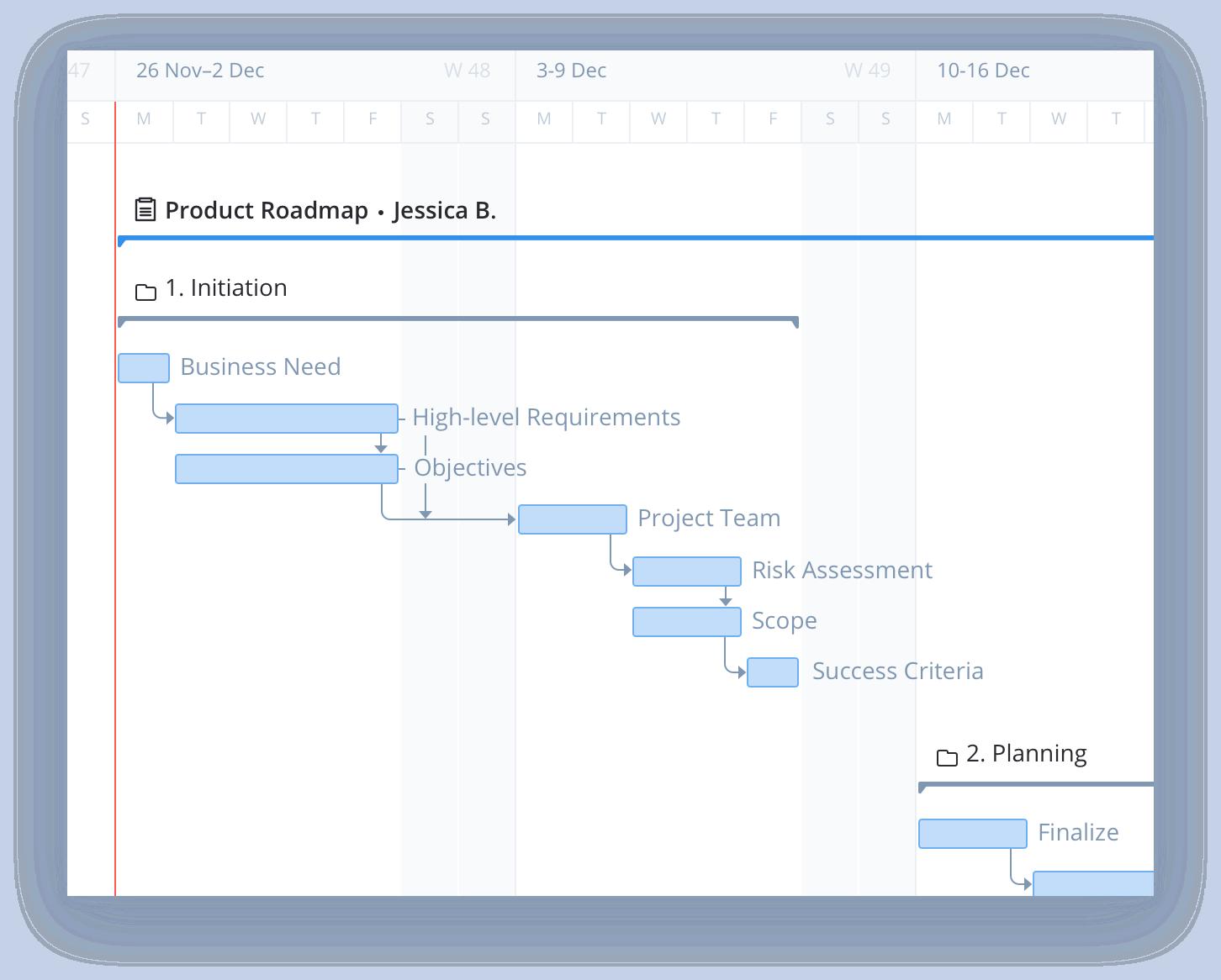 Wrike Product Roadmap Screenshot