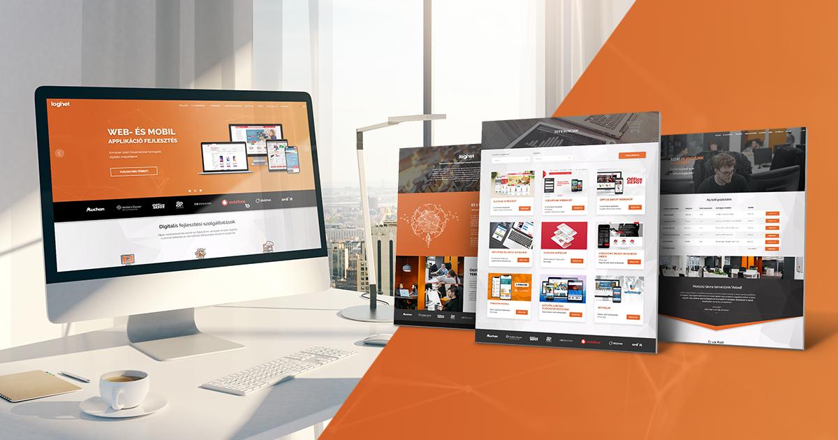 Új LogiNet honlap: átlátható szerkezet, felhasználóbarát UX Design