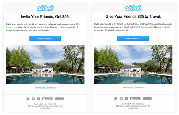 airbnb referral program email