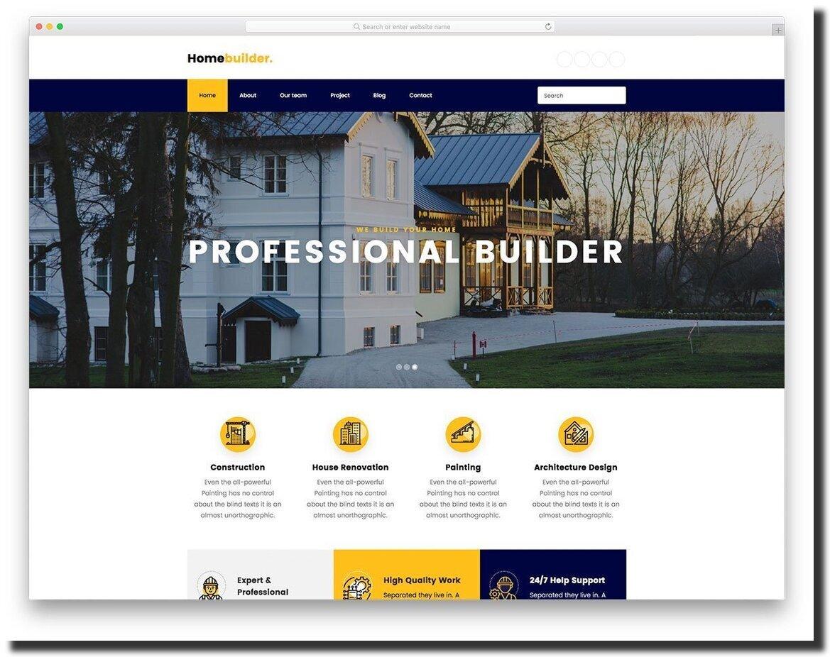 Homebuilder professional-looking website template