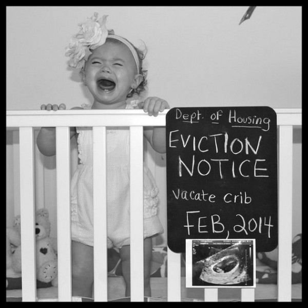 9. Eviction Notice - Some parents really get so humorous.