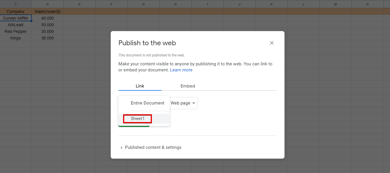 use a table plugin to embed Google Sheets into WordPress tables