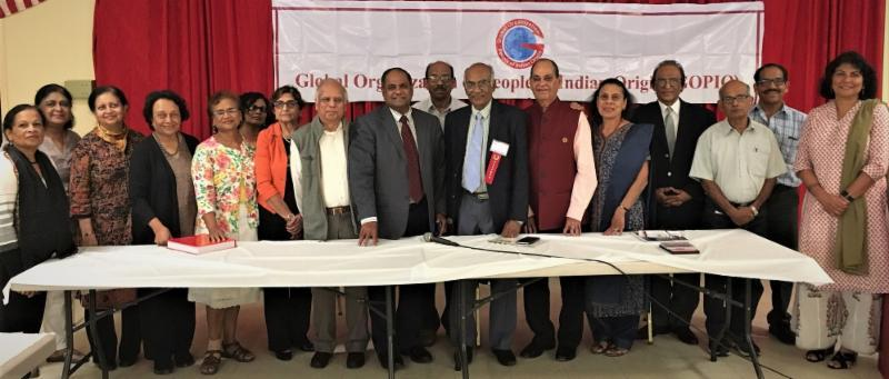 Dr. George Mathew with GOPIO-NY and Kerala Center officials