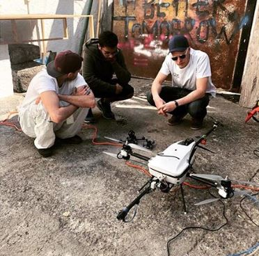 drones create graffiti at Mexico art week
