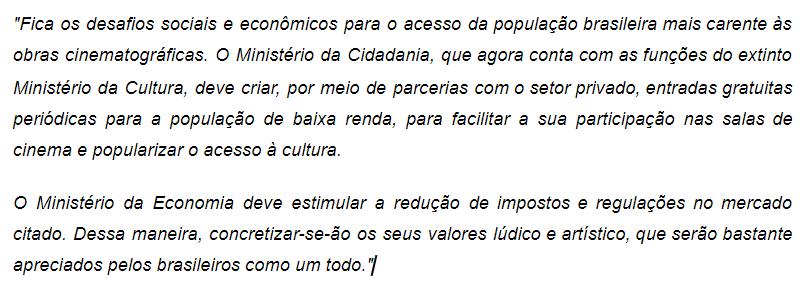 Exemplo - Escrito por Lucas Rios na edição do ano 19 deste milênio