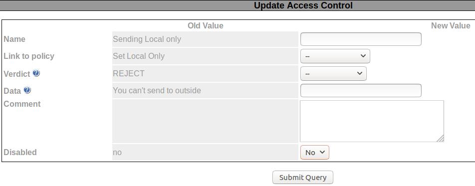 Update Access Control