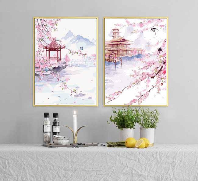 Malen nach Zahlen Duo Asien Kunst