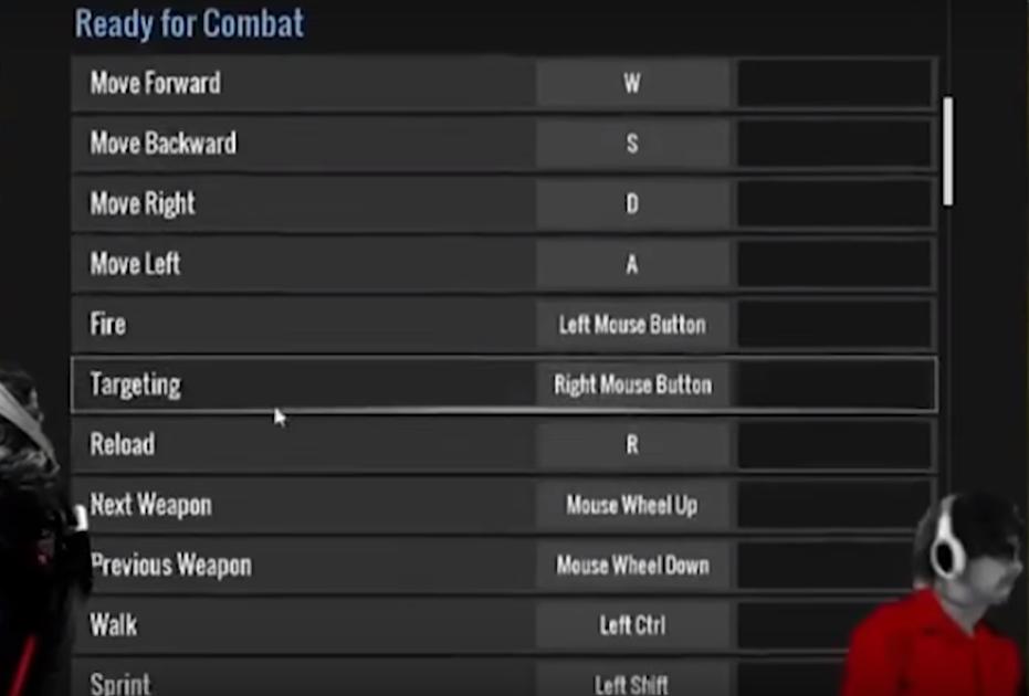 Combat shortcut keys