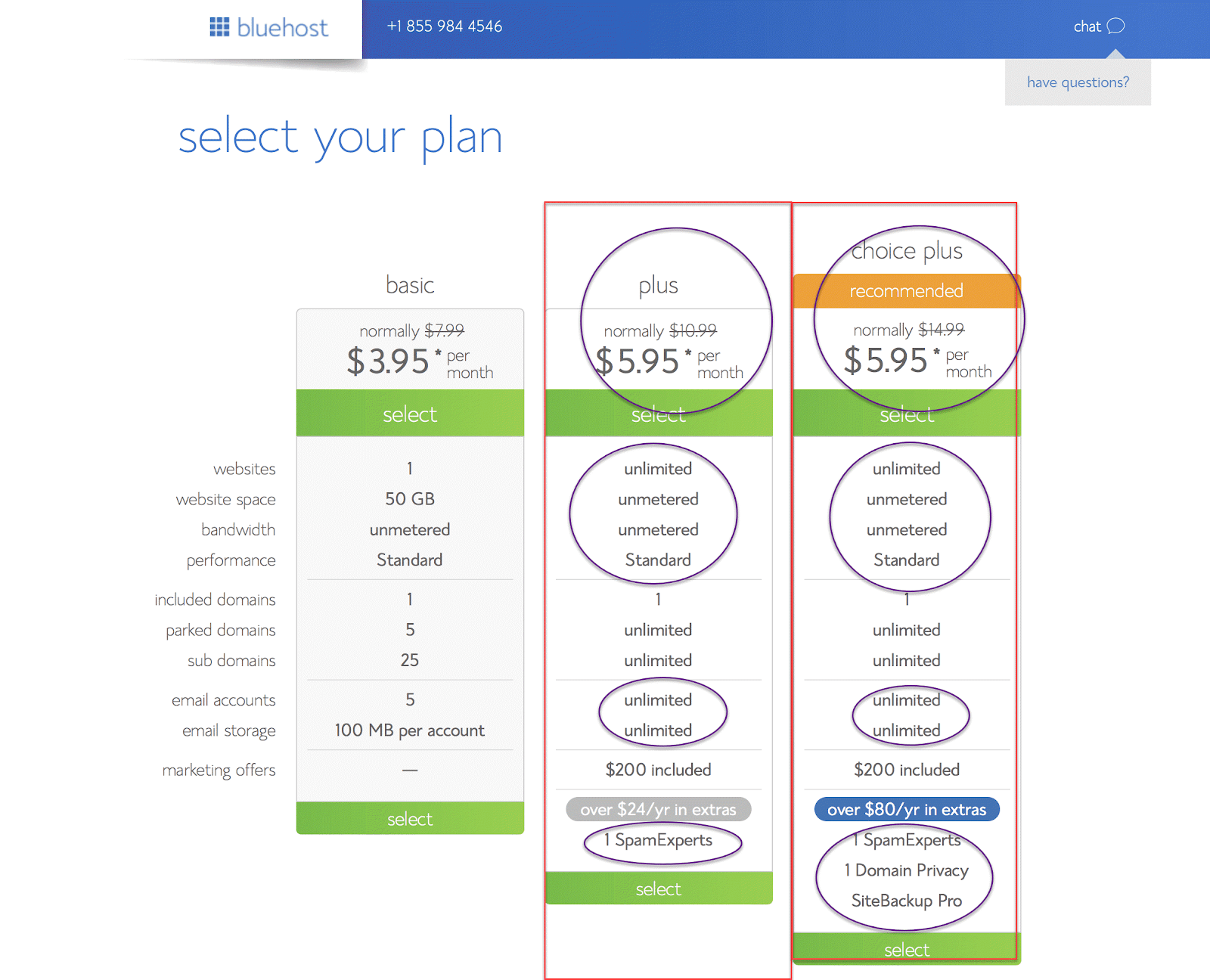 How To Start A Blog On BlueHost? Select A Plan