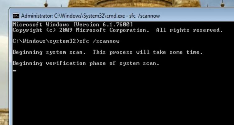 running an SFC scan