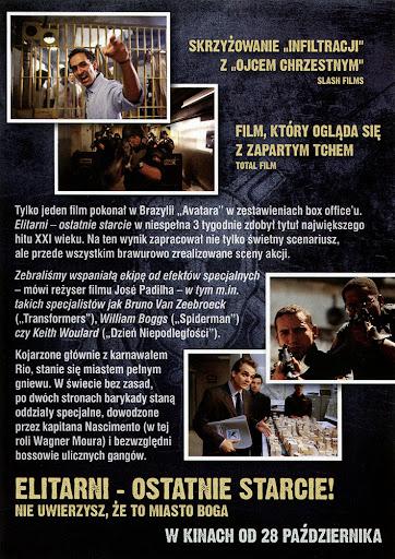 Tył ulotki filmu 'Elitarni - Ostatnie Starcie'