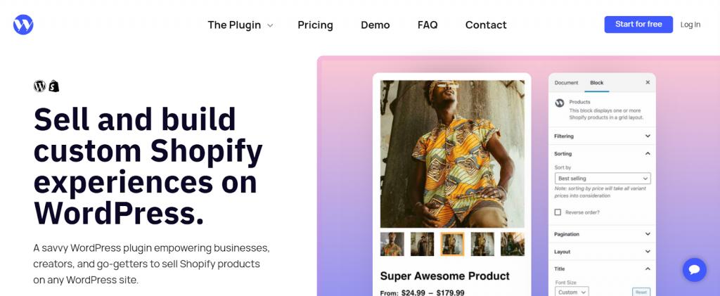 página inicial do shopify