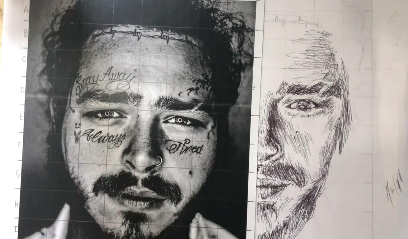 Post Malone drawing