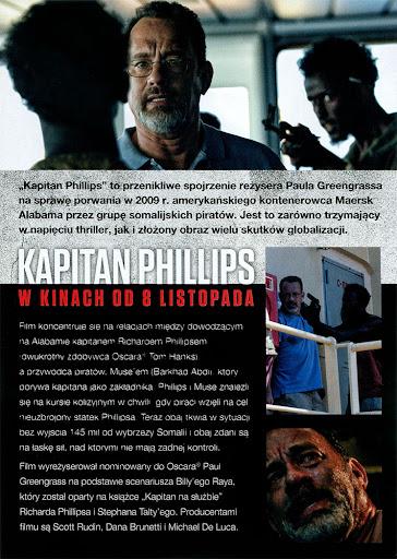 Tył ulotki filmu 'Kapitan Phillips'