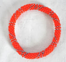 Rollover Glass bead Bangle