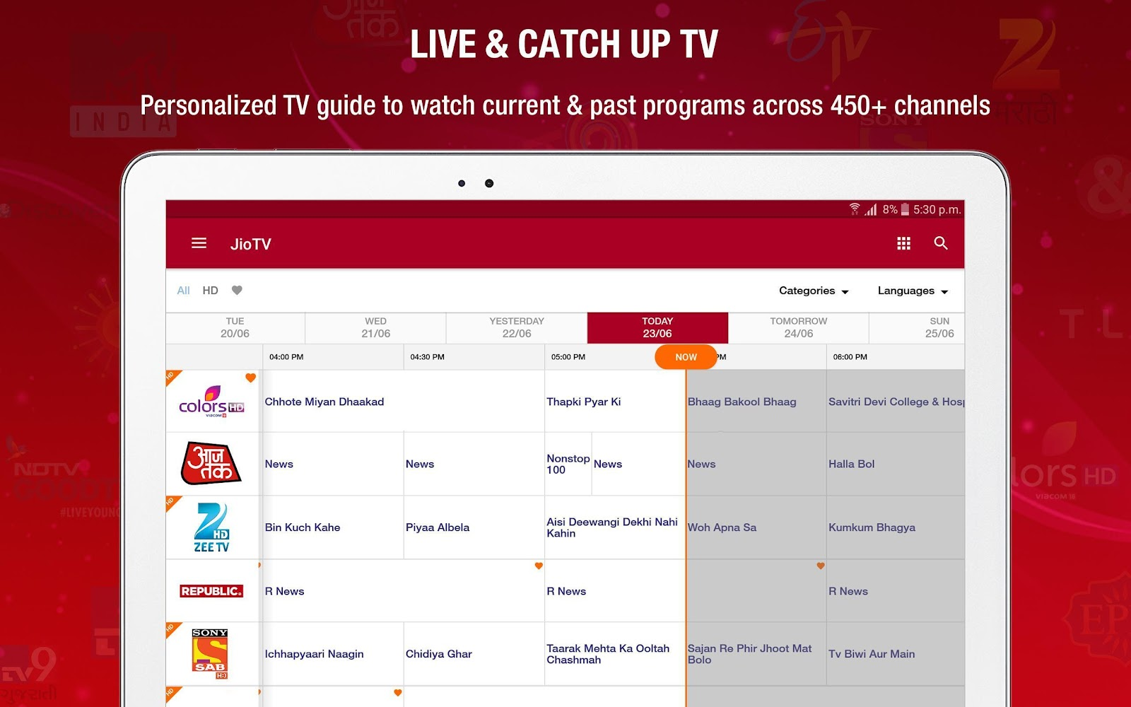 JioTV is an Android mobile app by Reliance Jio Infocomm