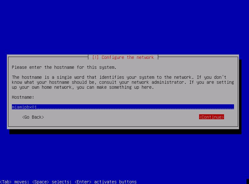 Укажите имя хоста для идентификации сервера в сети.