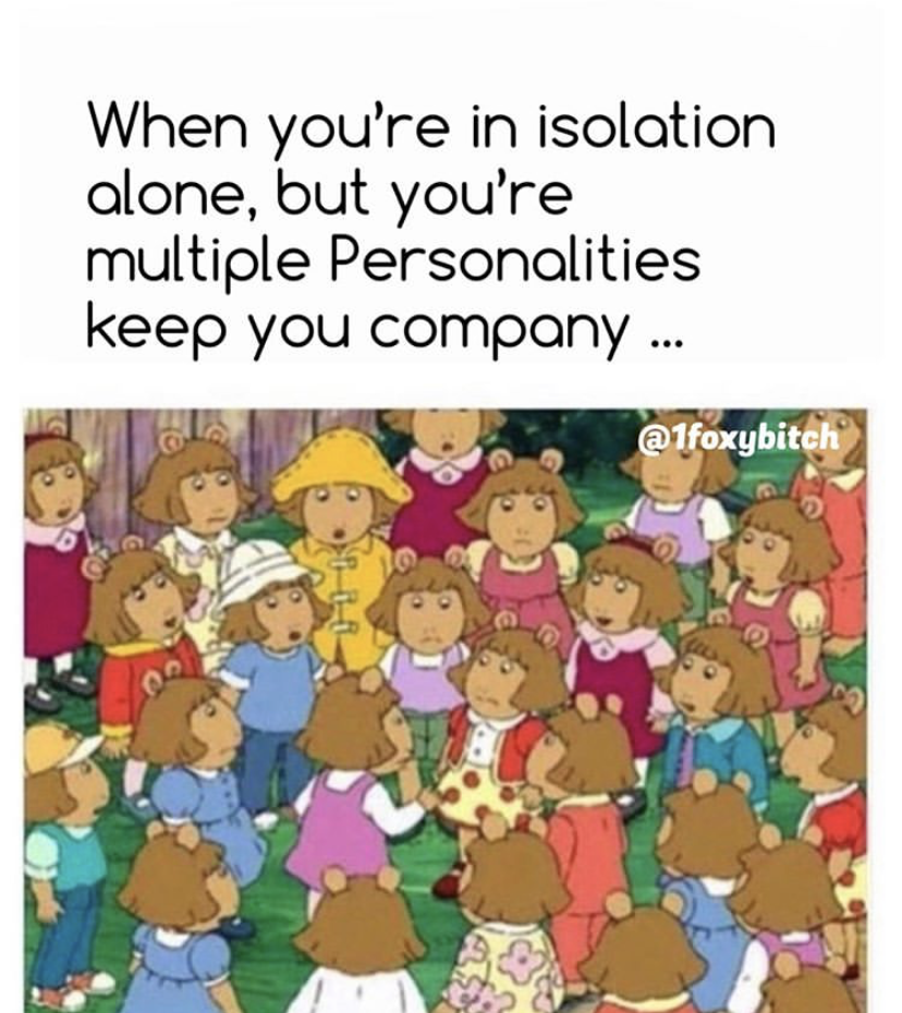 multiple personalities meme