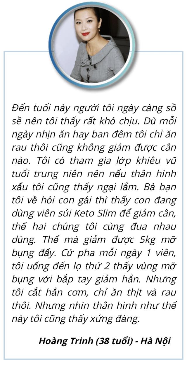 Khách hàng Hoàng Trinh đánh giá cao Keto Slim