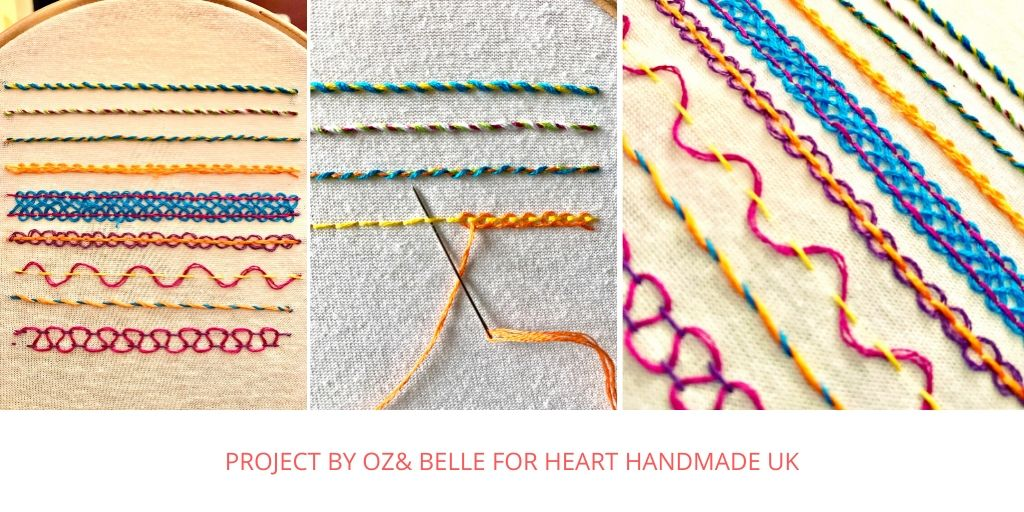 Basic embroidery stitches - example stitches
