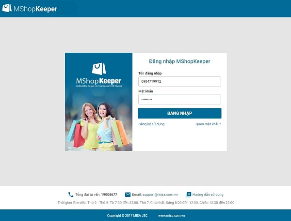 Phần mềm bán hàng online miễn phí thời trang MShopKeeper