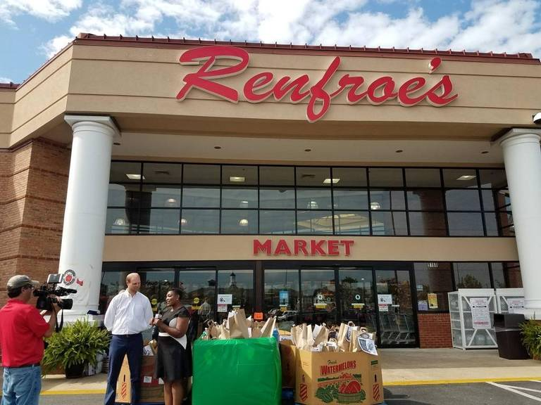 A Renfroe's Market store in the Montgomery, Ala., area holds a food bank event last June. The Alabama company is coming to Phenix City and will anchor The Village at Crosswinds. --