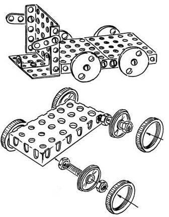 Конструювання моделей машин із деталей конструкторів за зразком