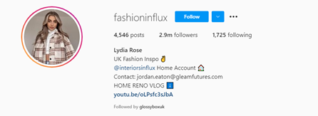 instagram handle for fashion influencers