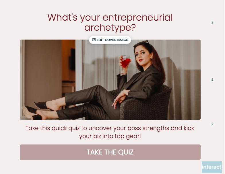 updated quiz cover with woman sitting in chair in office