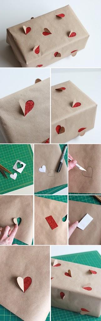 کاغذ کادو هدیه ولنتاین با برش دستی خاص