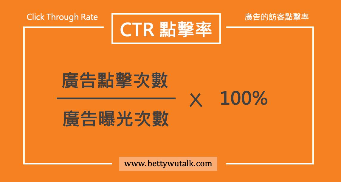CTR 點擊率(Click Through Rate):廣告的訪客點擊率