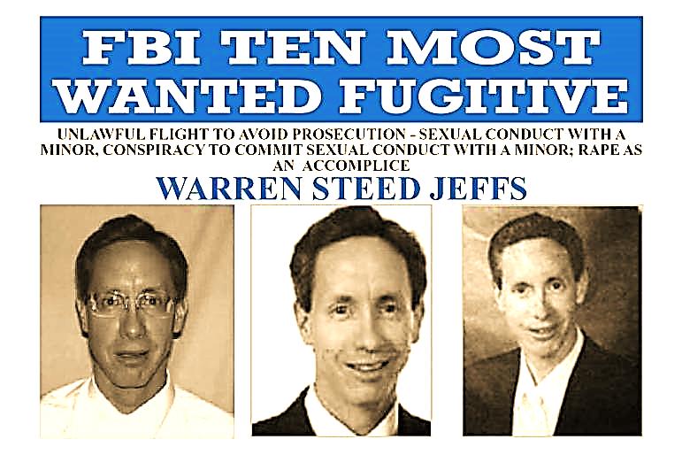 Warren Jeffs FBI Most Wanted Poster