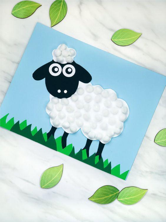 pom pom sheep craft for kids