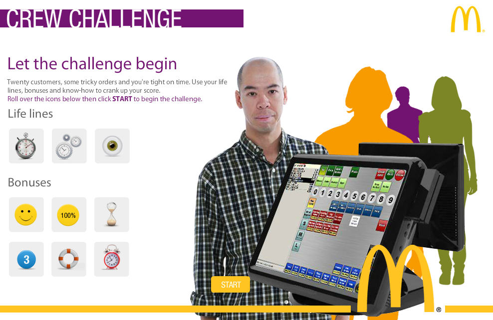 Example of eLearning gamification: McDonalds