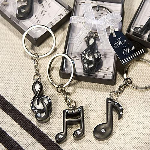 Musical Note Keychain Favors from HotRef.com