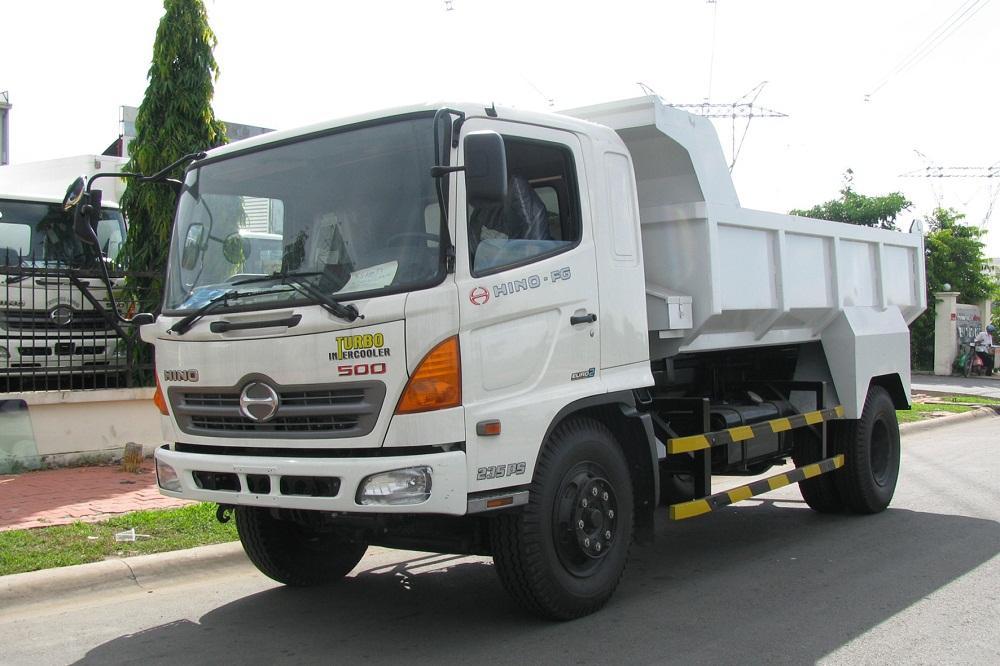 Xe ben 8 tấn - Bán xe ben hino 8 tấn hỗ trợ 80% - Mua xe tải tự đổ hino 8 tấn