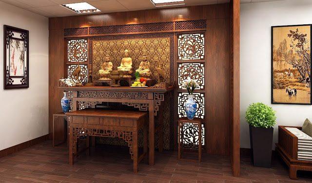 Kệ thờ Tam Bảo hiện đại
