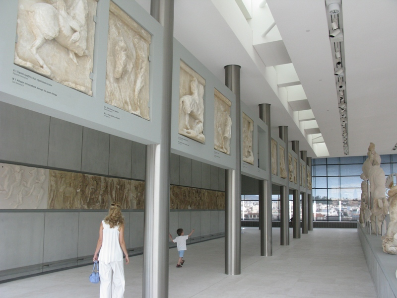 Acropolis Museum Interior in Athens, Greece