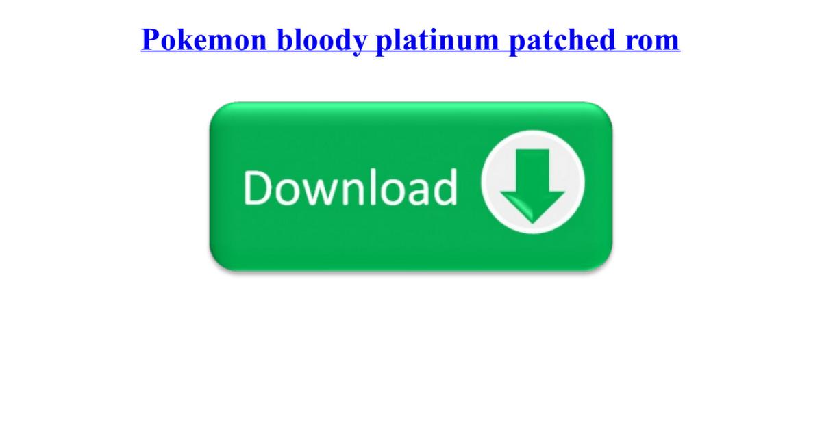 Pokemon bloody platinum pdf