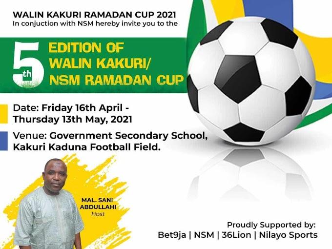 Hajj Gafar to watch semi final and final of NSM/Walin Kakuri Cup as Soname sends coaches to Kaduna