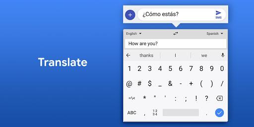 ترجمه در کیبورد گوگل