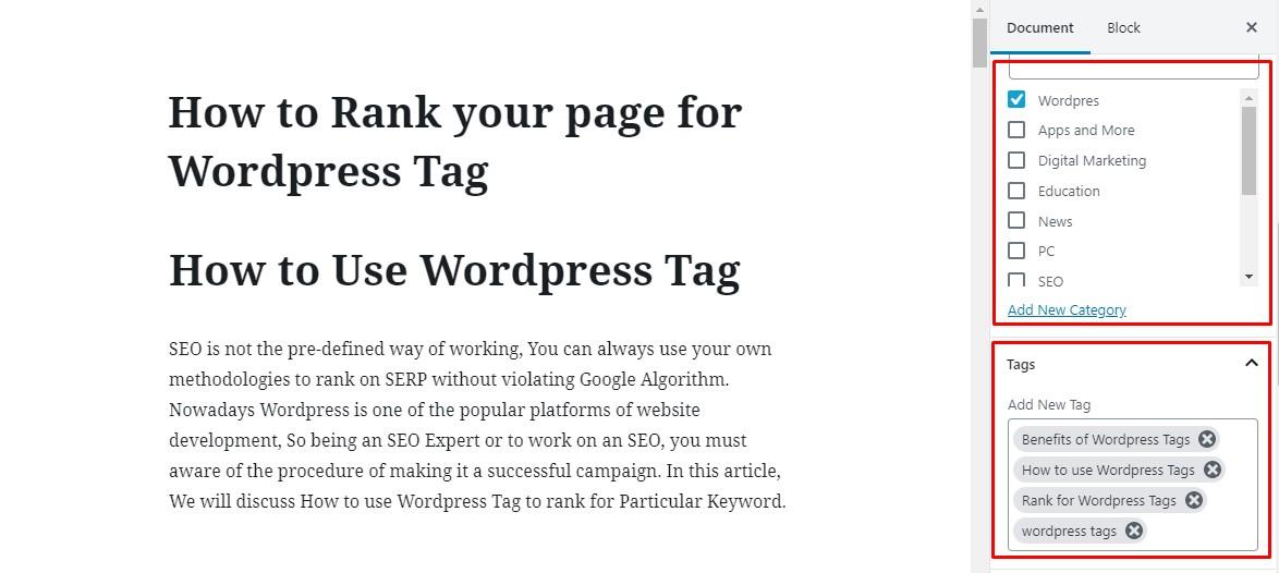 Wordpress post page