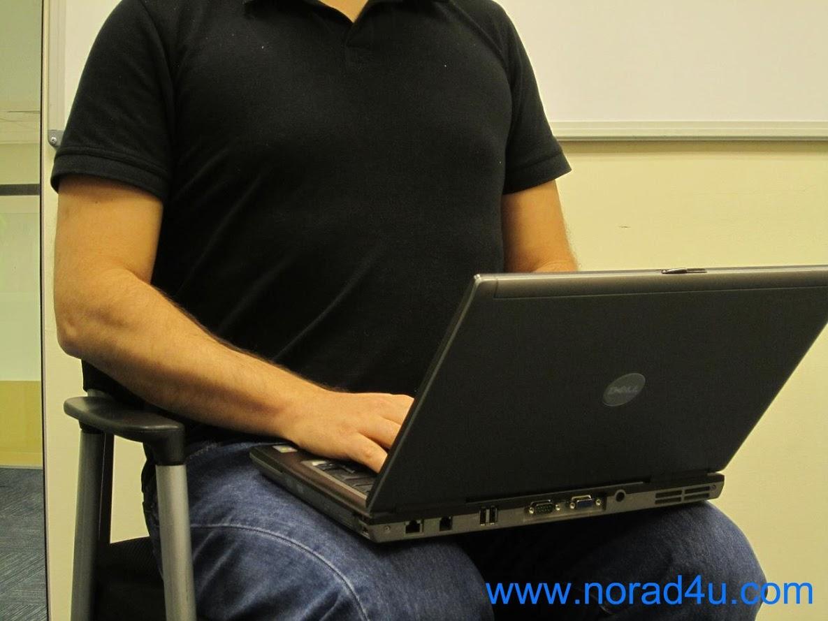 שימוש במחשב על הברכיים או הבטן