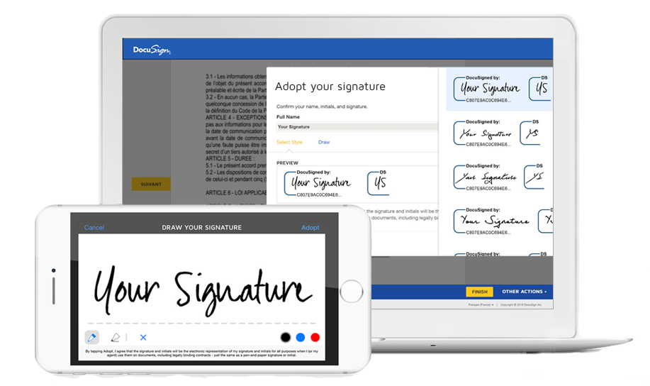 DocuSign consulting proposal tool interface
