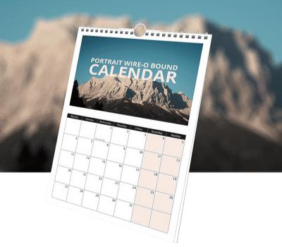 A3 Portrait Wire-O-Bound Calendar - DiscoverPrint