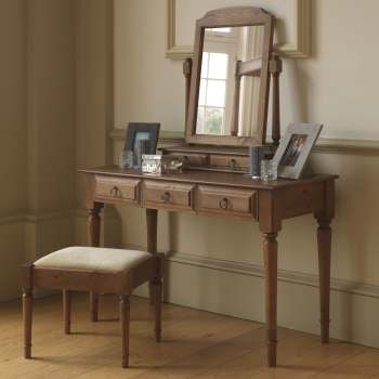 Traditional style solid wood dressing table